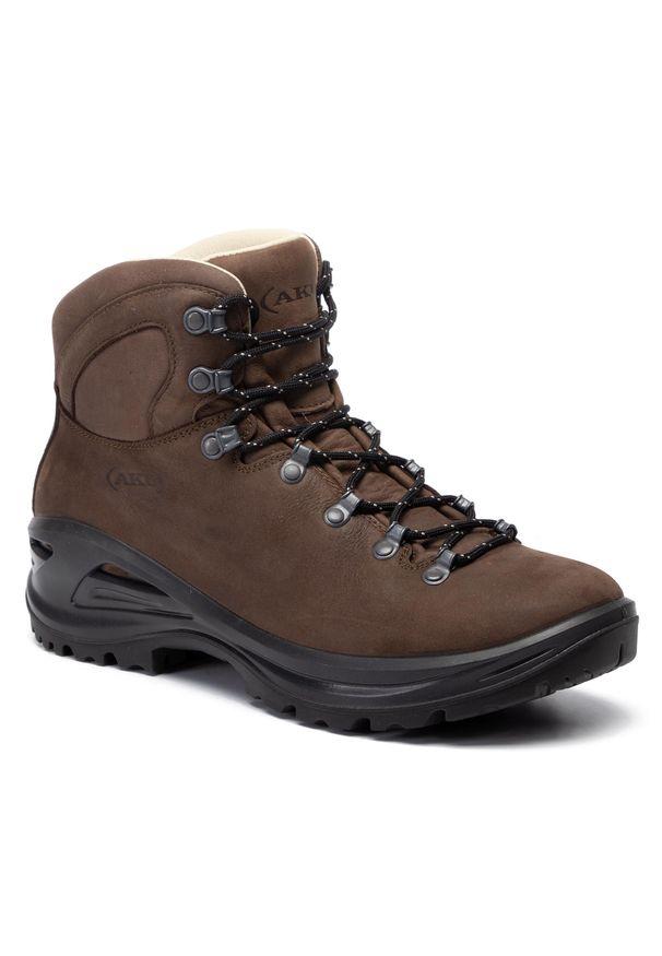 Brązowe buty trekkingowe Aku trekkingowe, Gore-Tex, z cholewką