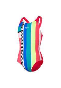 Stój kąpielowy jednoczęściowy dla dzieci Speedo Placement Pulse Black 812676. Materiał: tkanina, poliamid, materiał, elastan