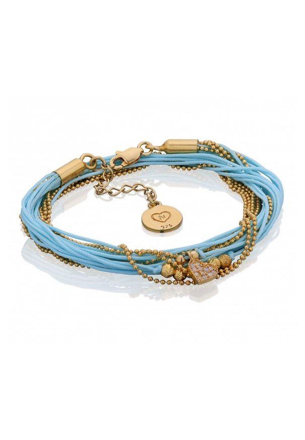 Niebieska bransoletka Nayla srebrna, z cyrkonią
