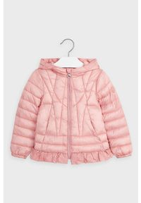 Różowa kurtka Mayoral z kapturem, casualowa