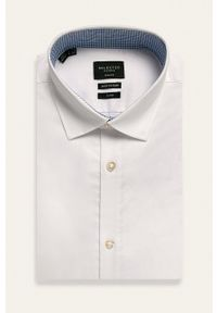 Selected - Koszula. Typ kołnierza: kołnierzyk klasyczny. Kolor: biały. Styl: klasyczny