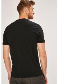 Czarny t-shirt Ellesse casualowy, z nadrukiem, na co dzień #4