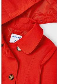 Czerwony płaszcz Mayoral na co dzień, gładki, casualowy