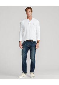 Ralph Lauren - RALPH LAUREN - Koszulka z długim rękawem. Typ kołnierza: polo. Kolor: biały. Materiał: bawełna. Długość rękawa: długi rękaw. Długość: długie. Wzór: haft