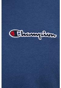 Champion - T-shirt bawełniany. Okazja: na co dzień. Kolor: niebieski. Materiał: bawełna. Wzór: gładki. Styl: casual