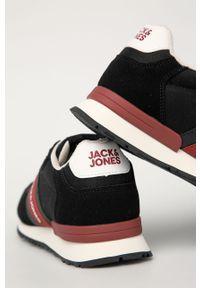 Czarne sneakersy Jack & Jones z cholewką, na sznurówki