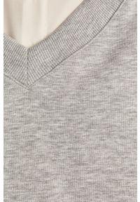 Szara bluza Answear Lab gładkie, długa, wakacyjna