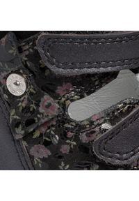 Czarne sandały Bartek z aplikacjami