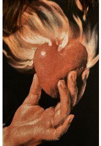 medicine - Medicine - Bluza bawełniana Valentines. Typ kołnierza: kaptur. Kolor: czarny. Materiał: bawełna. Wzór: nadruk