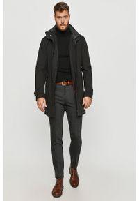 Czarny płaszcz Hugo bez kaptura #7