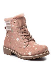 Nelli Blu - Trapery NELLI BLU - CS722-56 Pink. Okazja: na spacer. Kolor: różowy. Materiał: skóra, skóra ekologiczna, materiał. Szerokość cholewki: normalna. Sezon: zima