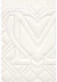 Biała listonoszka Love Moschino skórzana, mała