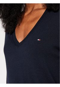 Niebieski sweter klasyczny TOMMY HILFIGER