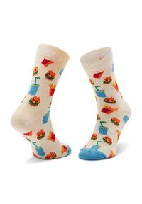Białe skarpetki Happy-Socks w kolorowe wzory