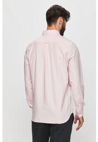 Różowa koszula Lacoste z długim rękawem, button down