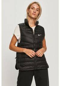 Czarna kamizelka Nike Sportswear na co dzień, bez kaptura