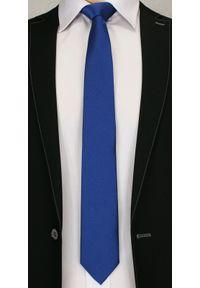 Niebieski krawat Angelo di Monti w grochy