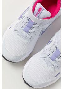 Szare buty sportowe Nike Kids z okrągłym noskiem, na rzepy