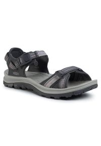 Szare sandały keen z otwartym noskiem, casualowe, na co dzień