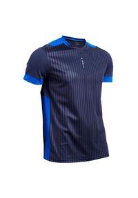 KIPSTA - Koszulka do piłki nożnej F500. Kolor: niebieski. Materiał: poliester, materiał. Sport: piłka nożna, bieganie