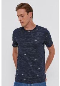 BOSS - Boss - T-shirt bawełniany Boss Athlesure. Okazja: na co dzień. Kolor: niebieski. Materiał: bawełna. Styl: casual