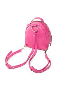Różowy plecak Versace Jeans Couture elegancki