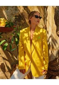 WILD MASCOT - Żółta marynarka z wełny FRESCO. Kolor: żółty. Materiał: wełna