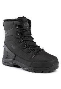 Czarne buty zimowe CMP eleganckie, z cholewką