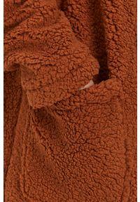 Brave Soul - Płaszcz. Okazja: na co dzień. Kolor: brązowy. Materiał: tkanina. Wzór: gładki. Styl: casual