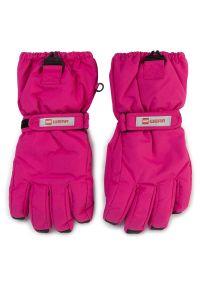 Różowe rękawiczki sportowe LEGO Wear narciarskie