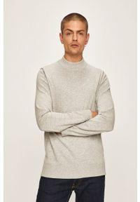 Szary sweter Premium by Jack&Jones casualowy, na co dzień