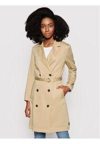 Beżowy płaszcz przejściowy Calvin Klein