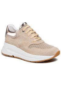 Geox - Sneakersy GEOX - D Backsie C D02FLC 022GN C6738 Lt Taupe. Okazja: na co dzień. Kolor: beżowy. Materiał: skóra, skóra ekologiczna, zamsz, materiał. Szerokość cholewki: normalna. Sezon: lato. Styl: casual