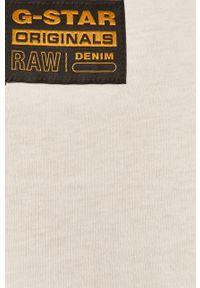 Biały t-shirt G-Star RAW z nadrukiem
