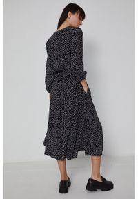 medicine - Medicine - Sukienka Basic. Kolor: czarny. Materiał: tkanina. Typ sukienki: rozkloszowane