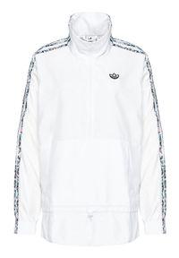 Adidas - adidas Kurtka anorak Half-Zip GN3106 Biały Standard Fit. Kolor: biały