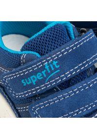Niebieskie półbuty Superfit z cholewką, na rzepy, na spacer
