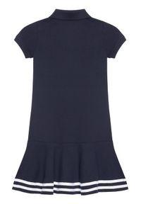 Niebieska sukienka Polo Ralph Lauren na co dzień, prosta, casualowa
