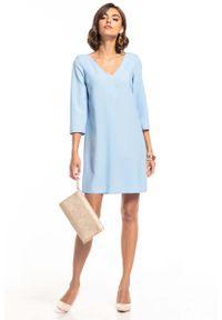 Niebieska sukienka wizytowa Tessita mini