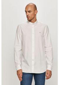 Biała koszula Calvin Klein casualowa, ze stójką, na co dzień
