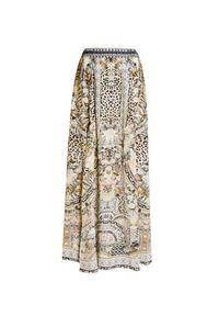 Beżowa spódnica Camilla w kwiaty, wakacyjna, długa