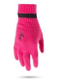 Różowe rękawiczki Ice Play w kolorowe wzory