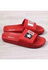Big-Star - Klapki męskie plażowe basenowe czerwone Big Star DD174702. Okazja: na plażę. Kolor: czerwony. Materiał: tworzywo sztuczne, guma