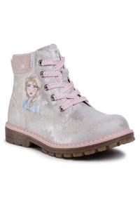 Srebrne buty zimowe Frozen z cholewką