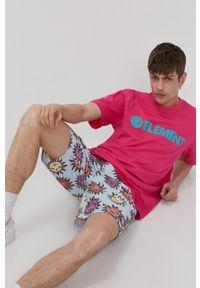 Element - T-shirt. Kolor: różowy. Wzór: nadruk
