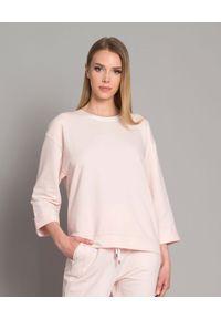 CAPPELLINI - Bluza dwukolorowa z jedwabiem. Kolor: beżowy. Materiał: jedwab. Długość rękawa: długi rękaw. Długość: długie. Styl: elegancki