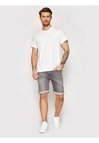 Pierre Cardin Szorty jeansowe 3452/000/8863 Szary Tapered Fit. Kolor: szary. Materiał: jeans