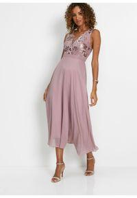Różowa sukienka bonprix gorsetowa, z gorsetem, elegancka
