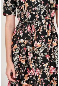 Marie Zélie - Sukienka Alodia Dianthus. Materiał: bawełna, wiskoza, skóra, materiał