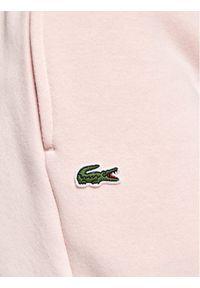 Lacoste Spodnie dresowe XJ9476 Różowy Regular Fit. Kolor: różowy. Materiał: dresówka #3